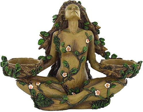 Tree Goddess Candle Holder