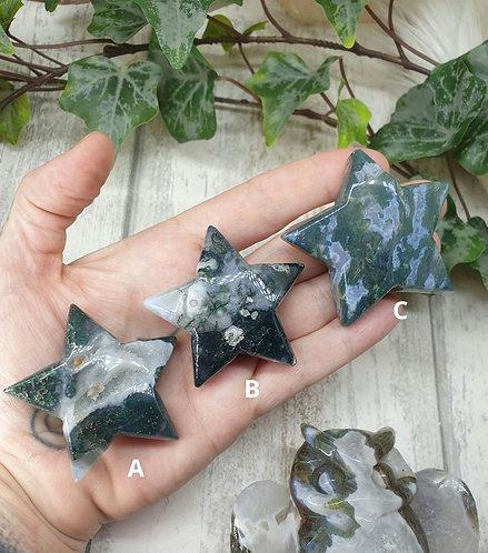 Moss agate star