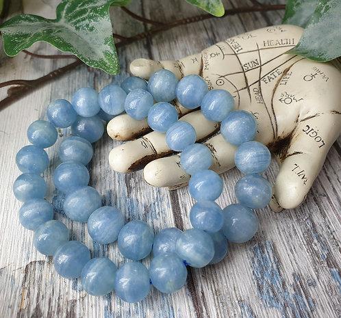 Aquatine Lemurian Calcite bracelet