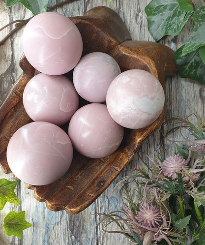 Pink opal sphere