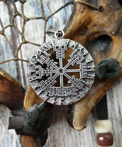 Viking compass pendant