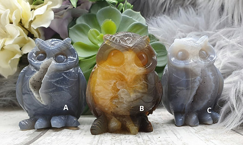 Agate Druze Owl