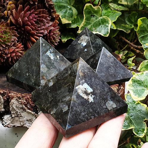 Larvikite pyramid
