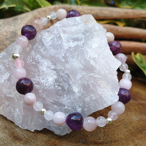Kunzite Rose Quartz and Lepidolite