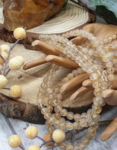 Golden Angel Hair Rutile long bracelet