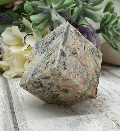 Crazy lace agate cube