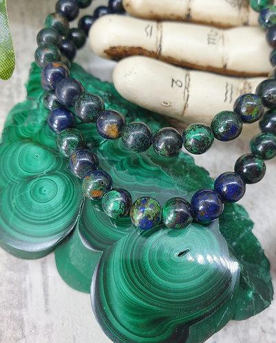 Azurite and Malachite bracelet