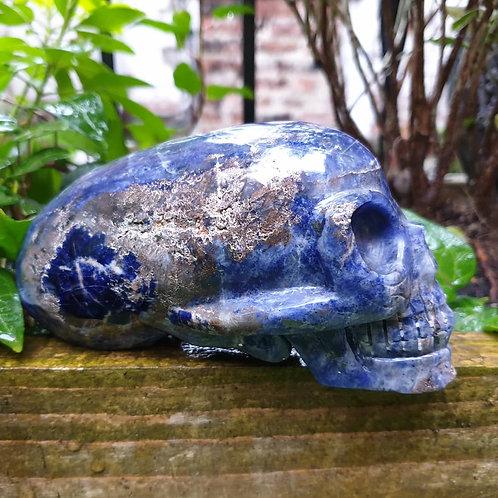 Sodalite Indiana Jones skull