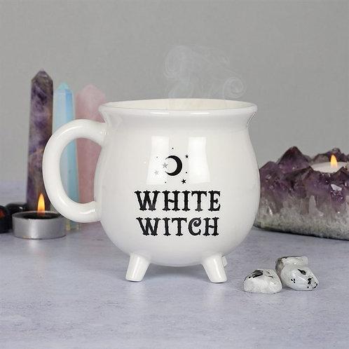 White witch mug