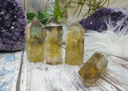 Smokey citrine point treated