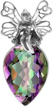 Mystic topaz fairy pendant