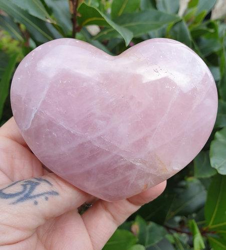 Lavender Rose Quartz Heart