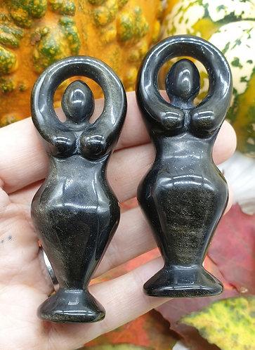 Gold sheen obsidian goddess