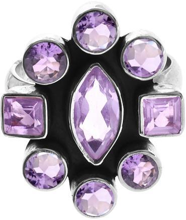 9 stone Amethyst ring