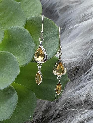 Citrine earrings (treated)