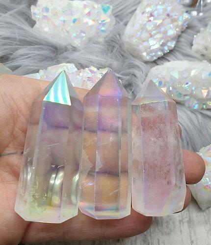 Aura quartz point