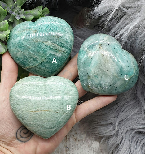 Large Amazonite Heart