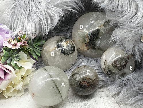 Shamanic quartz sphere