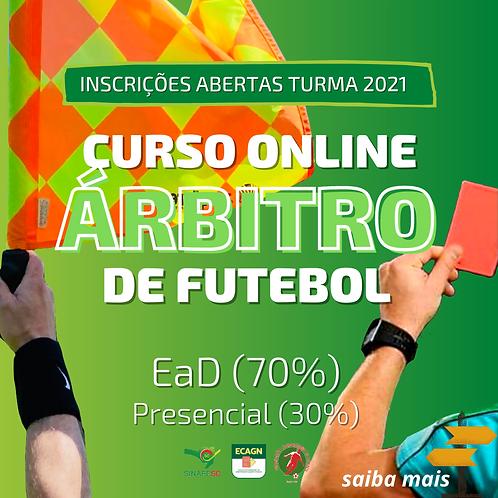 CURSO DE FORMAÇÃO PARA ÁRBITROS DE FUTEBOL 2021