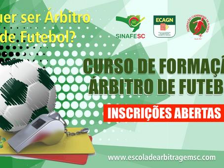 Curso de Formação de Árbitros de Futebol (inscrições encerradas)