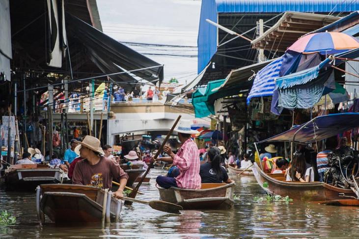 Damnoe Saduak Floating Market, Bangkok