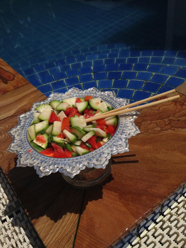 Healthy Travel Recipe: Fresh Veggie Lime Salad