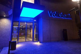 Volksbank Hildesheim - finale Lichtdecke im Außenbereich