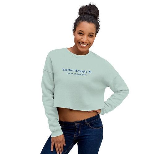 Scattin Through Life Crop Sweatshirt
