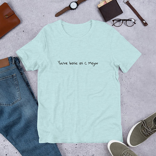 Basic as C Major Short-Sleeve Unisex T-Shirt
