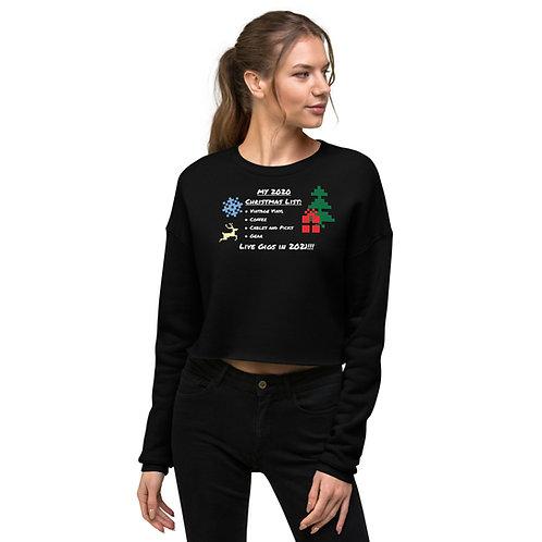 2020 Holiday Crop Sweatshirt