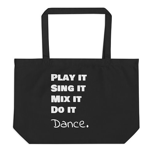 Dance Large organic tote bag
