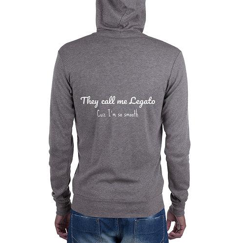 Legato Unisex zip hoodie