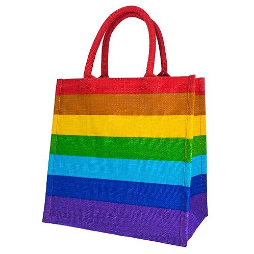 Pride Rainbow Jute Bag