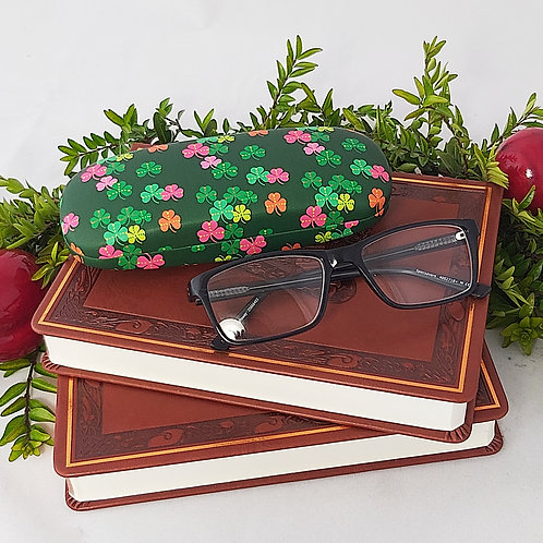 Coloured Shamrocks Glasses Case
