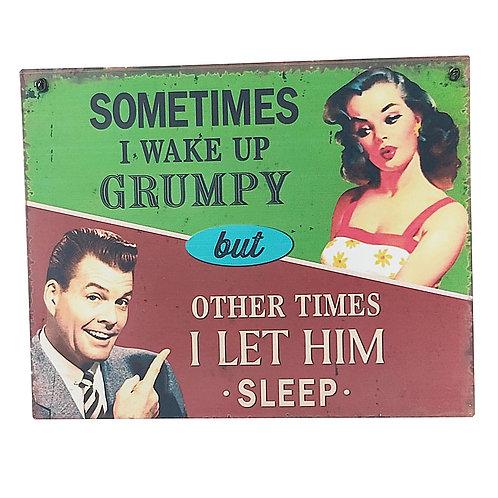 Grumpy Retro Wall Sign