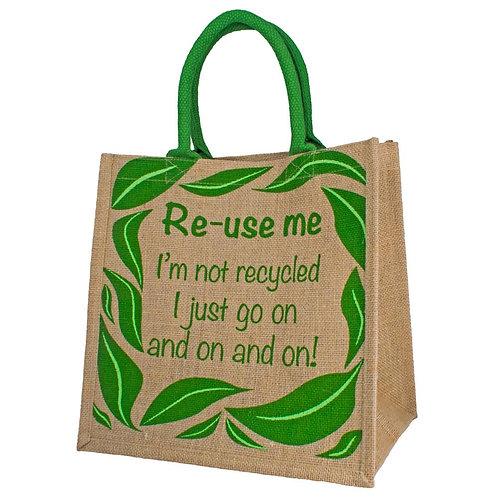 Re-use Me Jute Bag