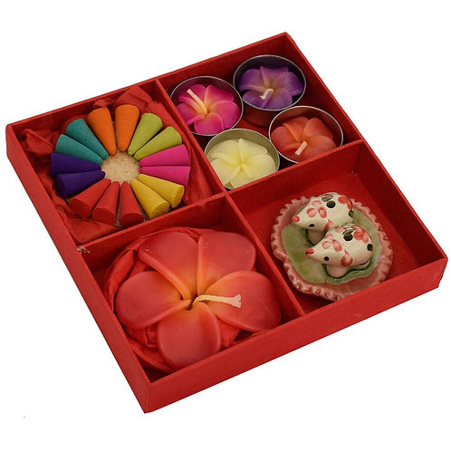 Incense and Candle Gift Set - Red Box