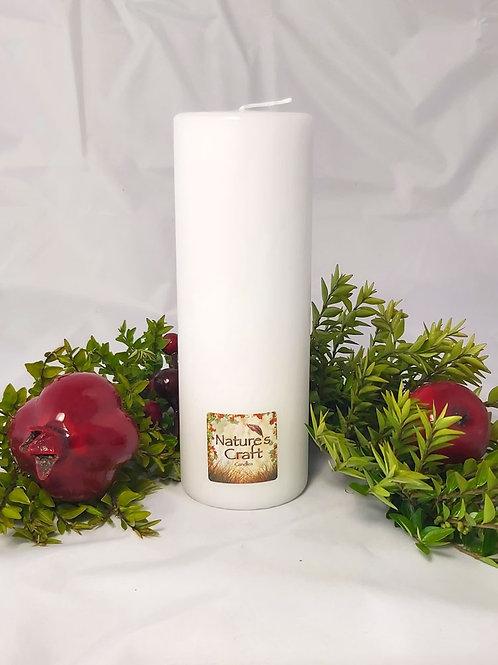 White Pillar Candle 70x200