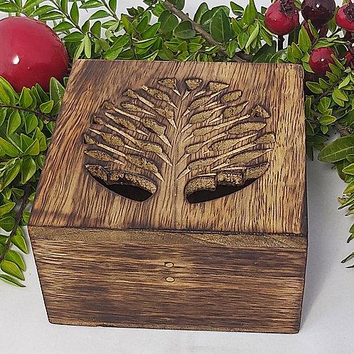 Square Box Mango Wood Tree of Life