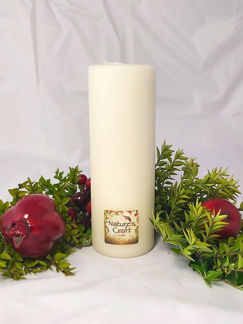 Ivory Pillar Candle 50x250