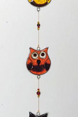 String of Owls Sun Catcher