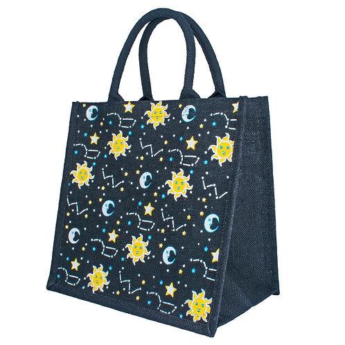 Sun and Moon Jute Bag