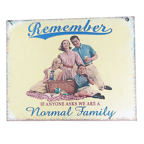 Normal Family Retro Wall Sign