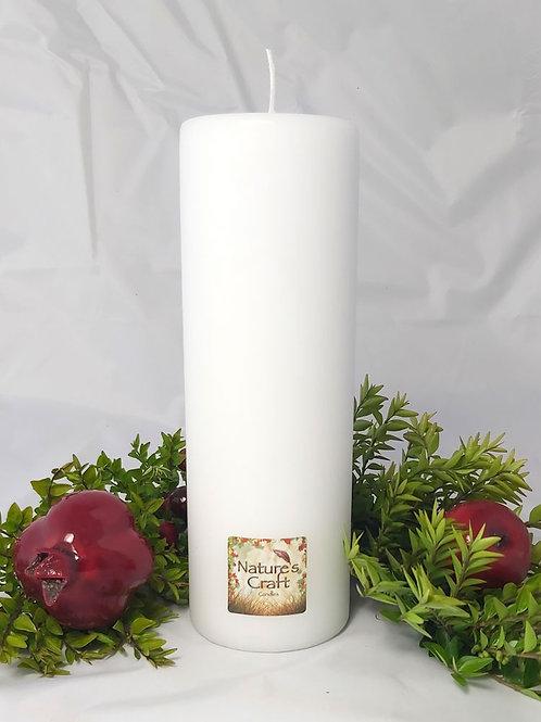 White Pillar Candle 80x240