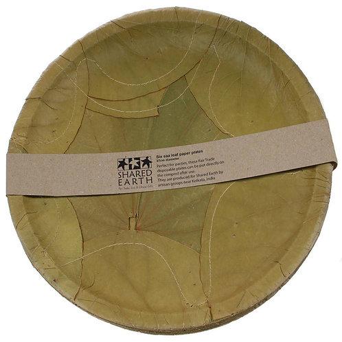 SAA leaf plates (set 6) - 27cm