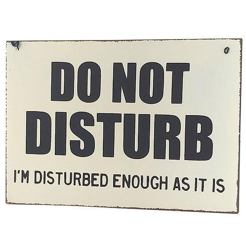 """Do Not Disturb"" Retro Wall Signs"