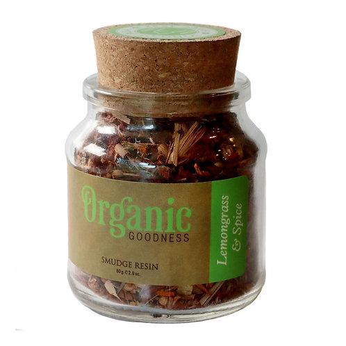 Smudge Resin - Organic Goodness - Lemongrass and Spice