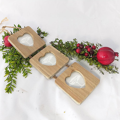 Triple Picture Frame 3x3 with Hearts