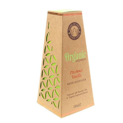 Organics Goodness Reed stick Diffuser - Patchouli Vanilla - 100ml