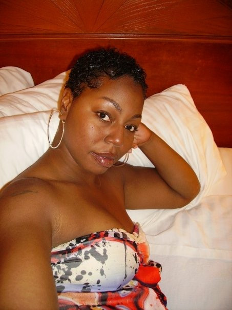 Circa 2009 -  This is my hair short and relaxed.  Natural curls popping through!